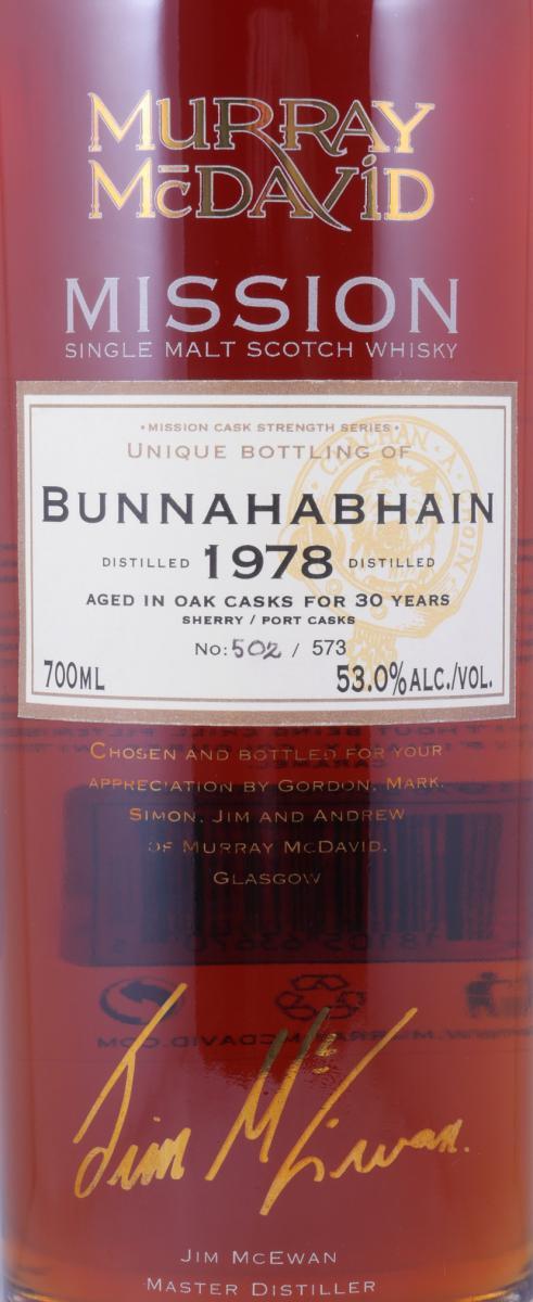 Bunnahabhain 1978 MM