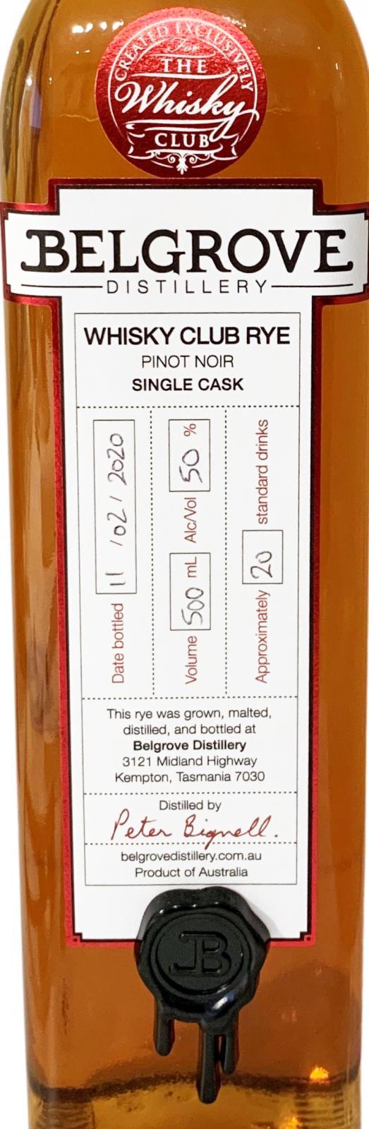 Belgrove Whisky Club Rye