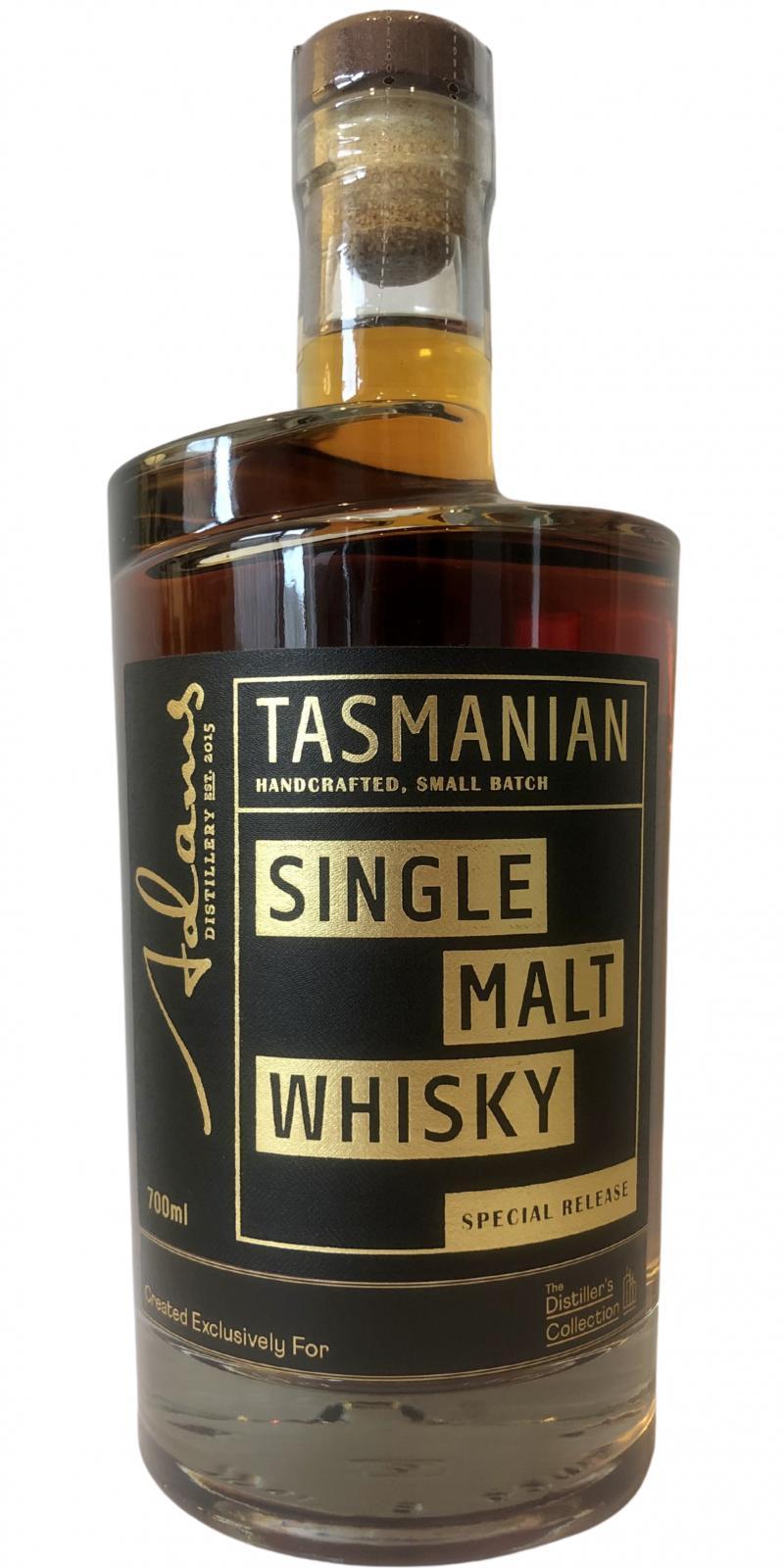Adams Tasmania Single Malt Whisky