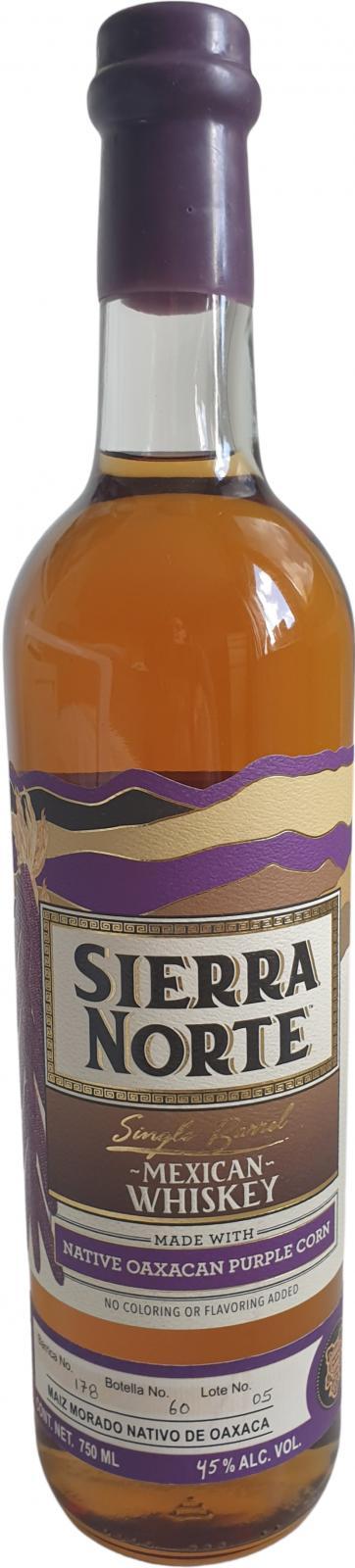 Sierra Norte Single Barrel Whiskey