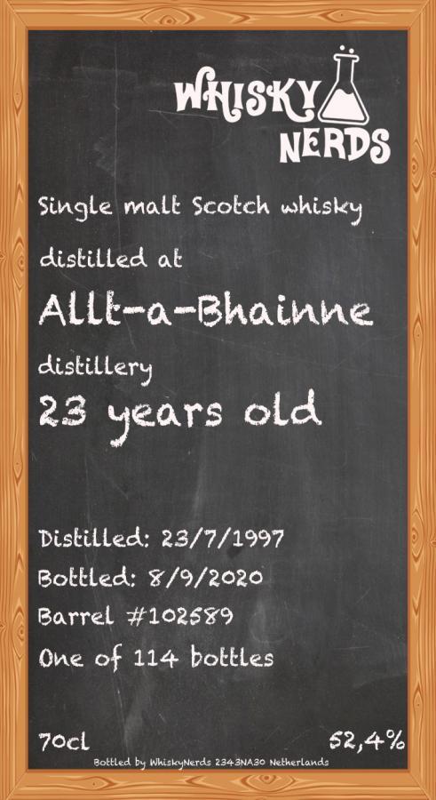 Allt-a-Bhainne 1997 WN