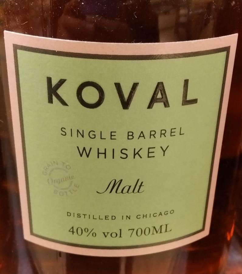 Koval Single Barrel - Malt