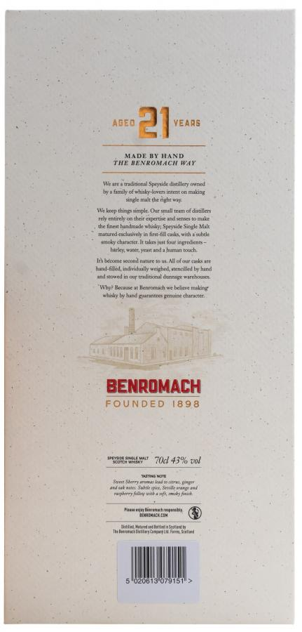 Benromach 21-year-old
