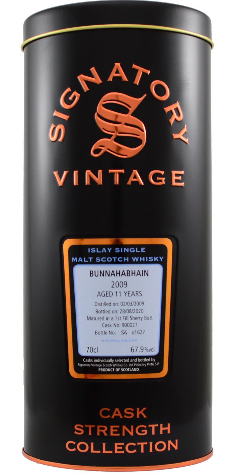 Bunnahabhain 2009 SV