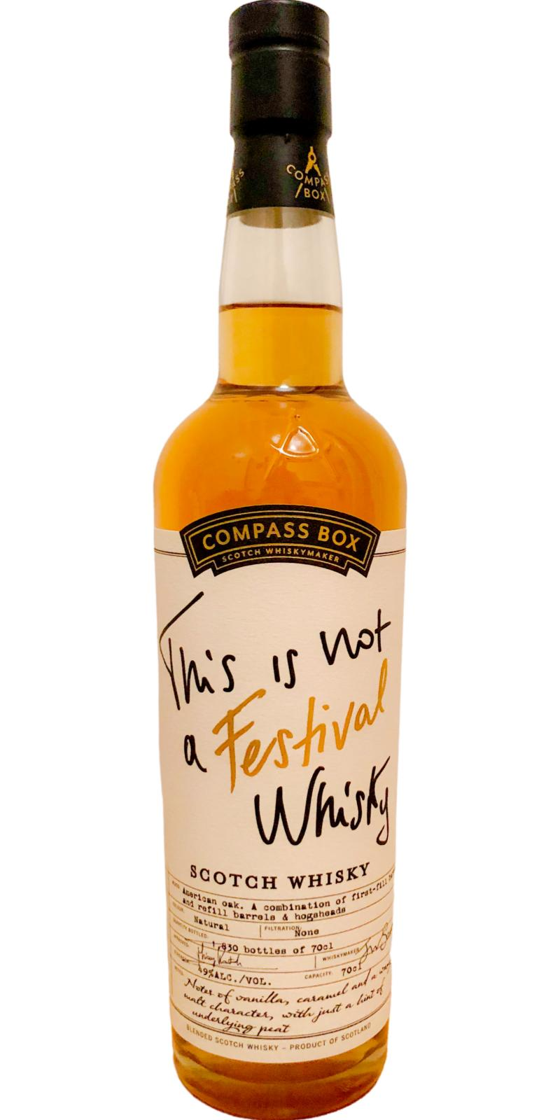 This is not a Festival Whisky NAS CB