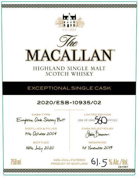 Macallan 2020/ESB-10935/02