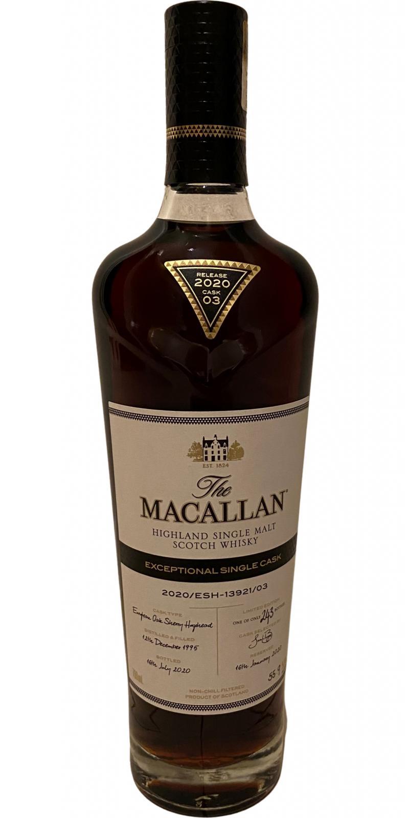 Macallan 2020/ESH-13921/03