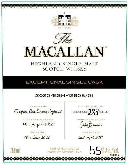 Macallan 2020/ESH-12080/01