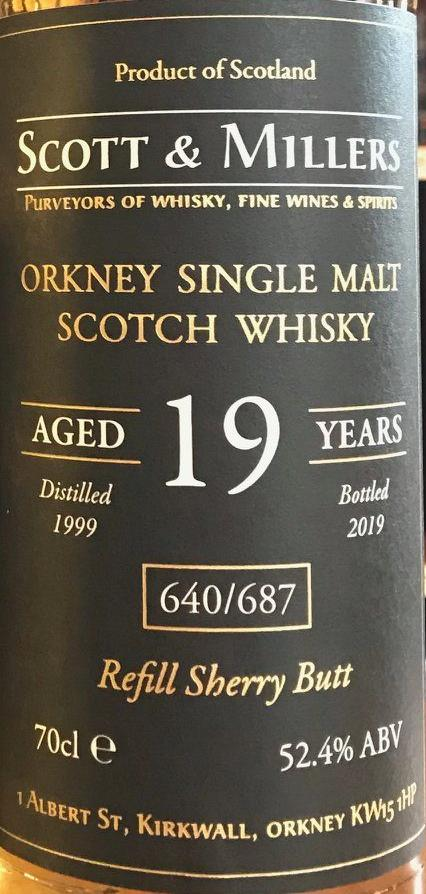 Orkney Single Malt Scotch Whisky 1999 S&M
