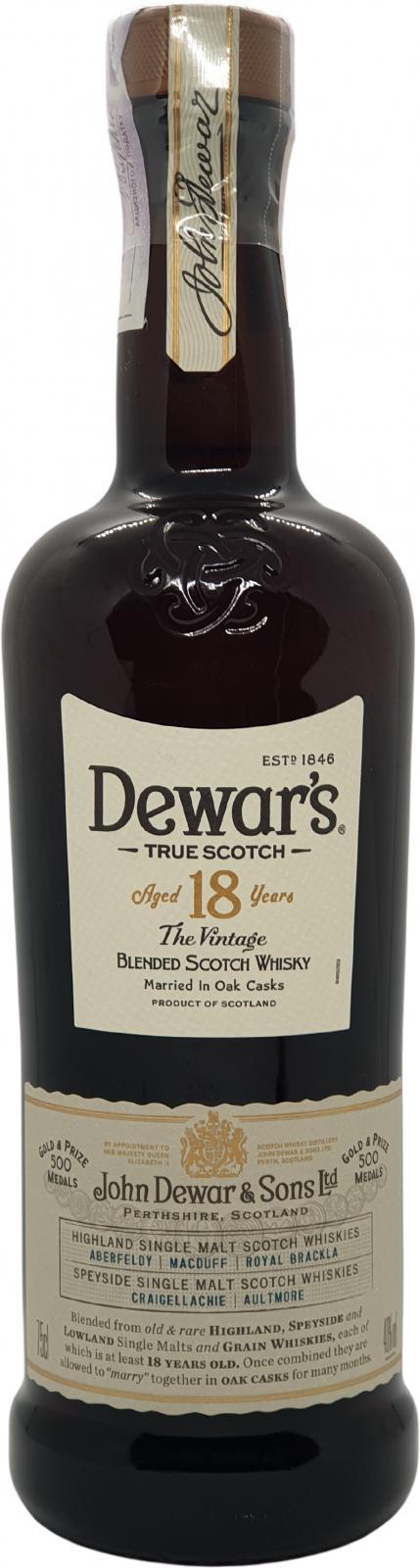 Dewar's 18-year-old