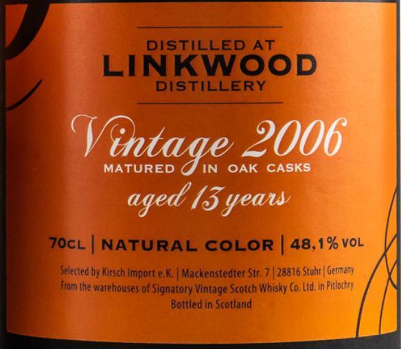 Linkwood 2006 SV