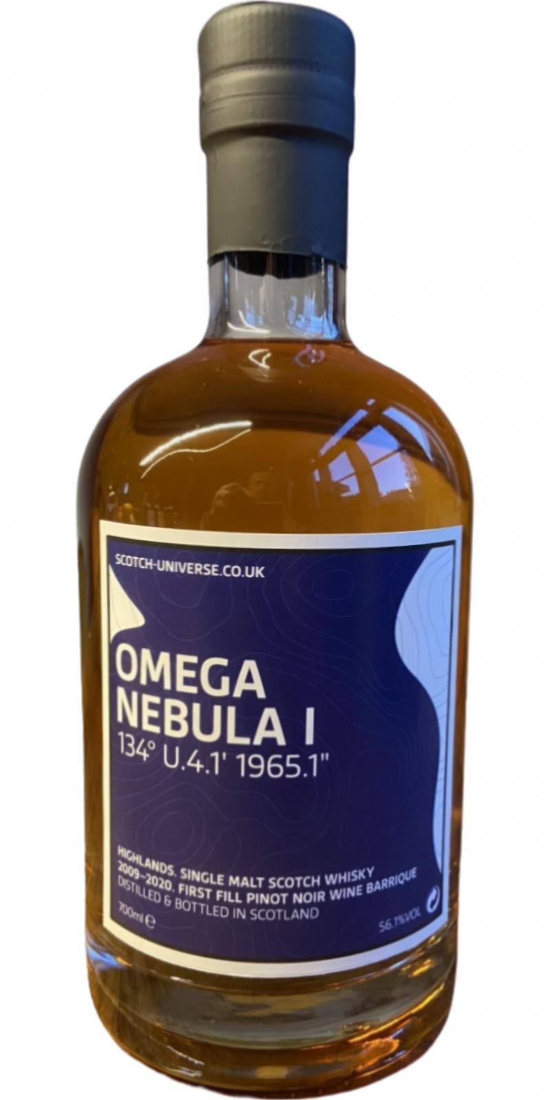 "Scotch Universe Omega Nebula I - 134° U.4.1' 1965.1"""