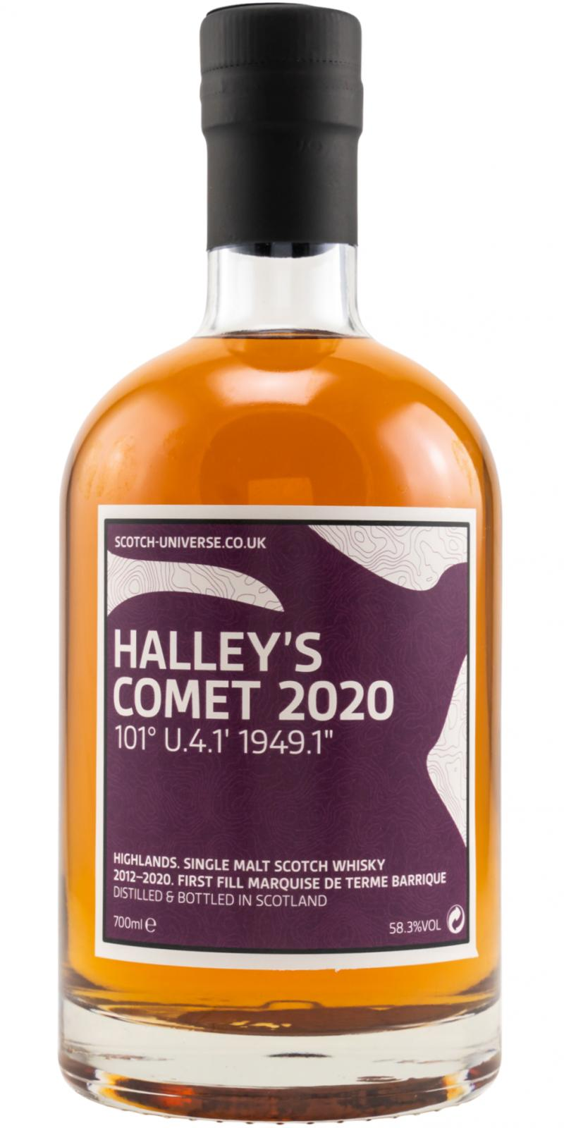 "Scotch Universe Halley's Comet 2020 - 101° U.4.1' 1949.1"""