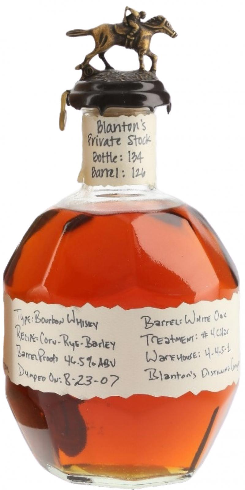 Blanton's Private Stock
