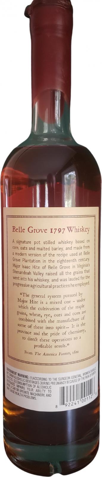 Belle Grove 1797 Whiskey