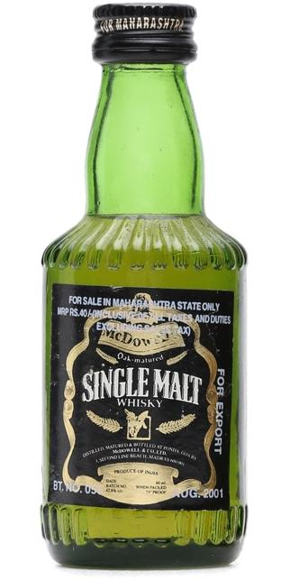 McDowell's Single Malt Whisky