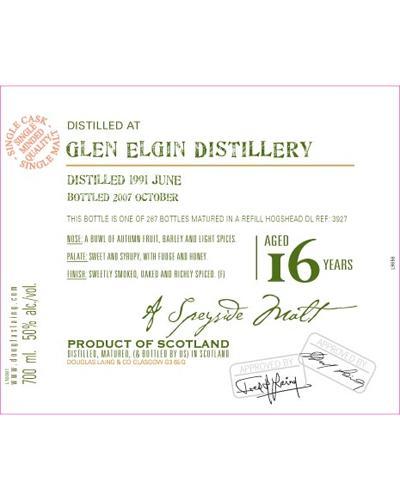 Glen Elgin 1991 DL