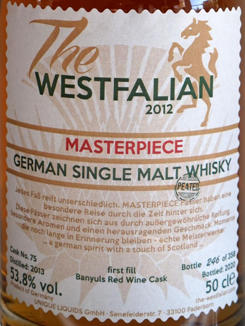 The Westfalian 2013 Peated - Masterpiece