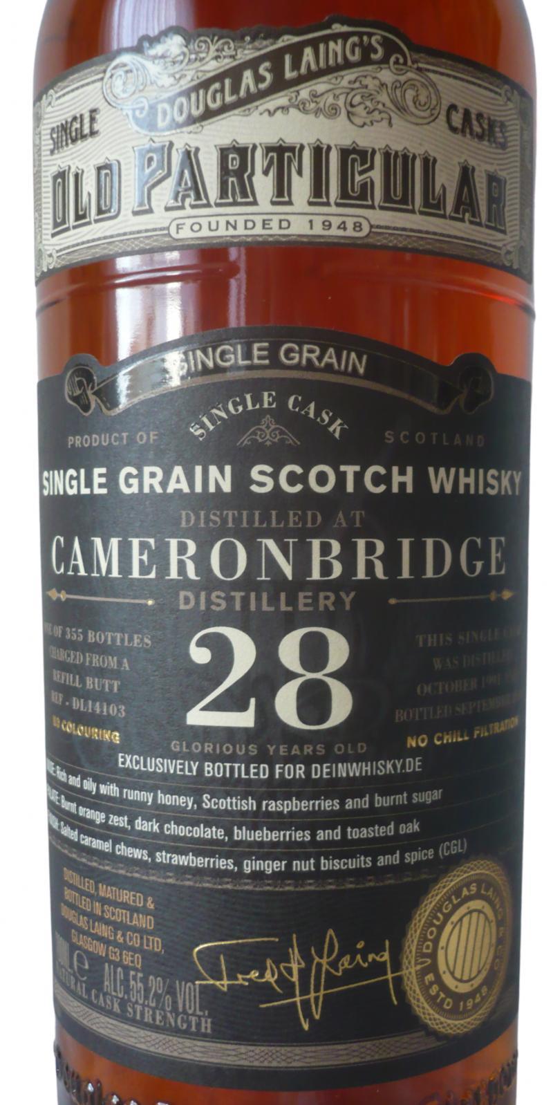 Cameronbridge 1991 DL