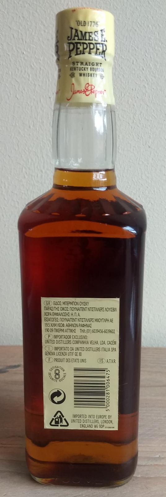 James E. Pepper Straight Kentucky Bourbon Whiskey
