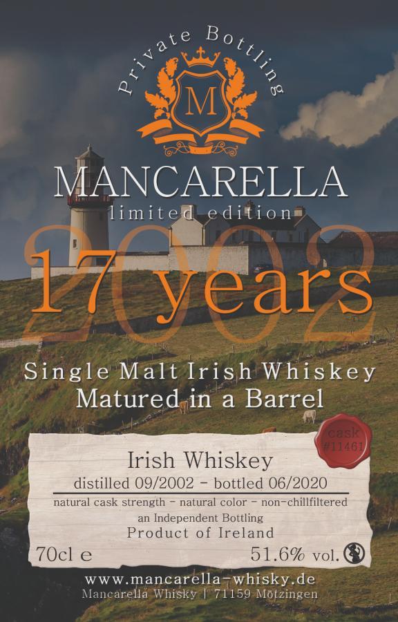Irish Whiskey 2002 Ma