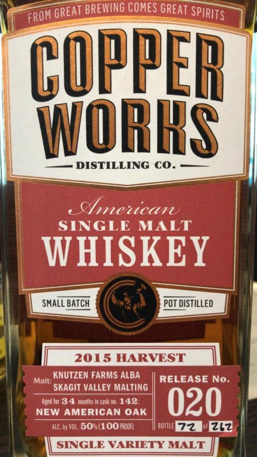Copperworks American Single Malt Whiskey