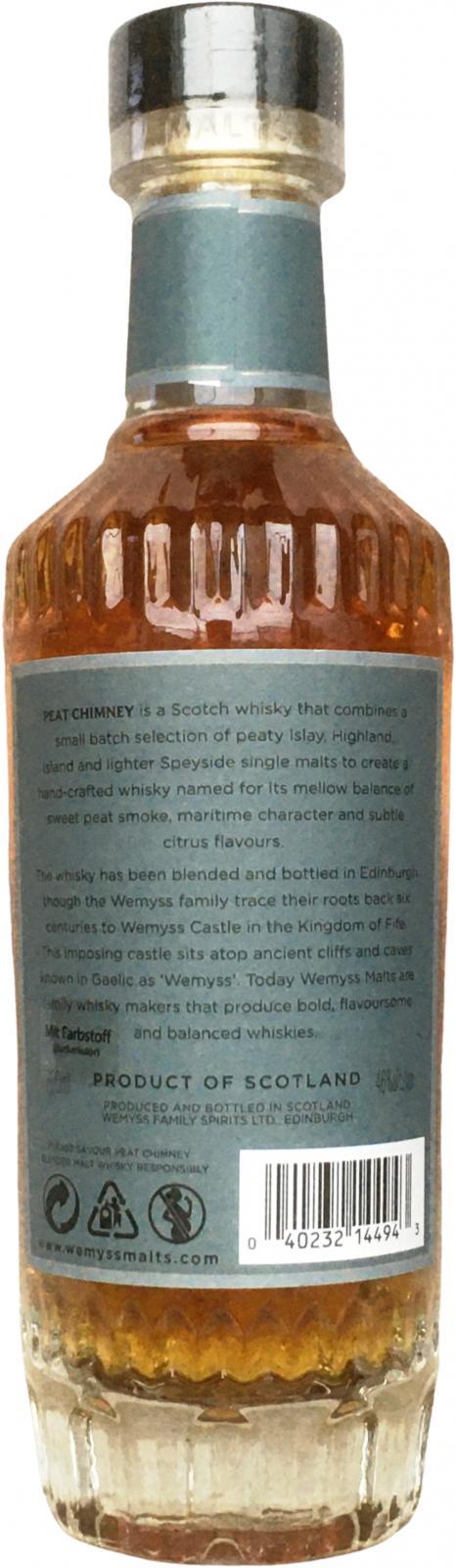Peat Chimney Blended Malt Scotch Whisky Wy
