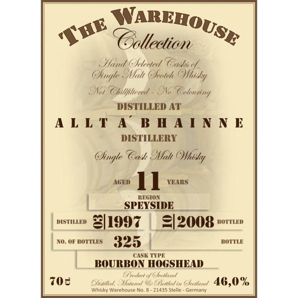 Allt-a-Bhainne 1997 WW8