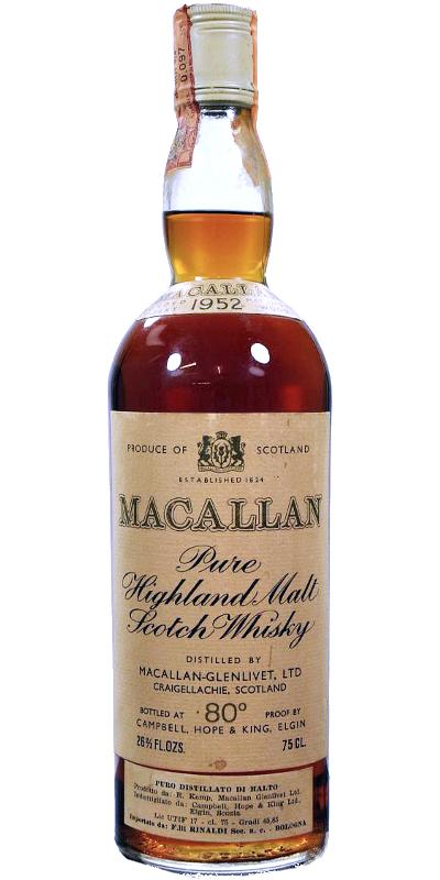 Macallan 1952 80 proof