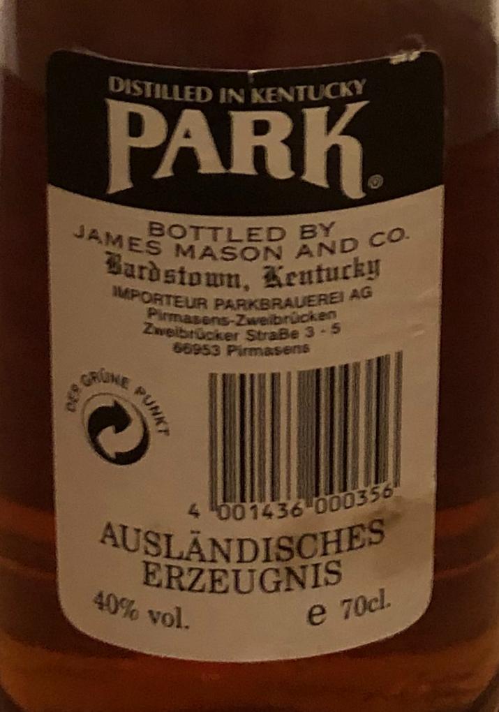 Park Kentucky Straight Bourbon Whiskey