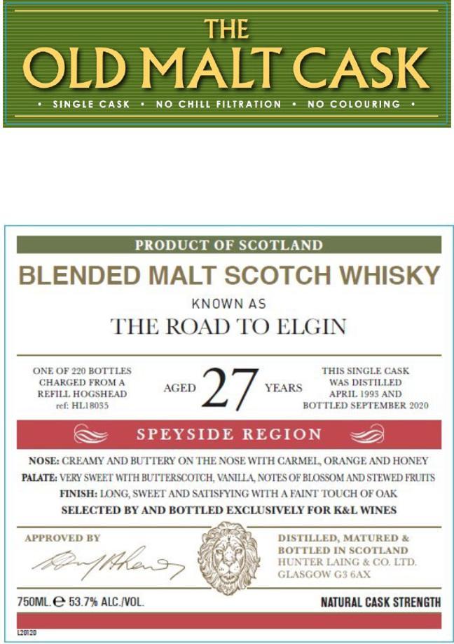 Blended Malt Scotch Whisky 1993 HL