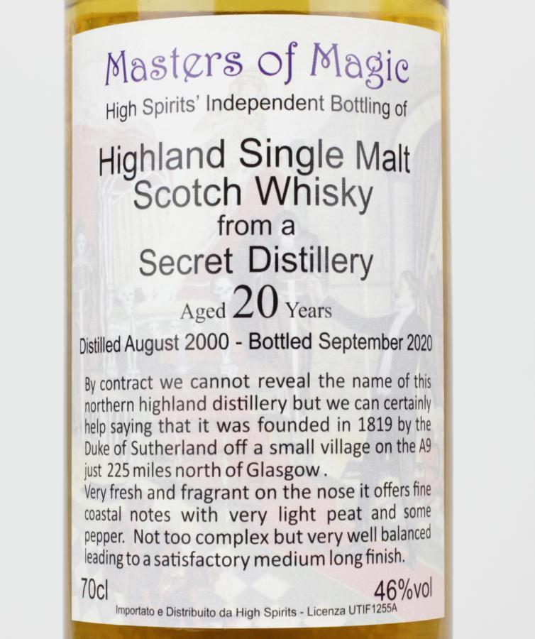 Highland Single Malt Scotch Whisky 2000 HSC