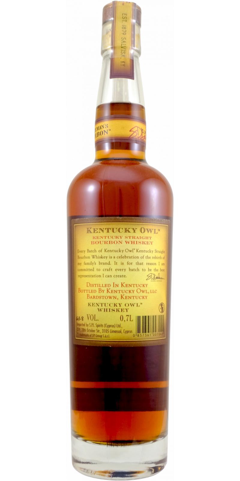 Kentucky Owl Kentucky Straight Bourbon Whiskey