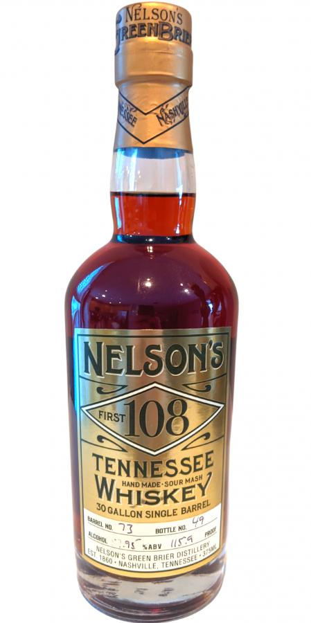 Nelson's First 108 Tennessee Whiskey