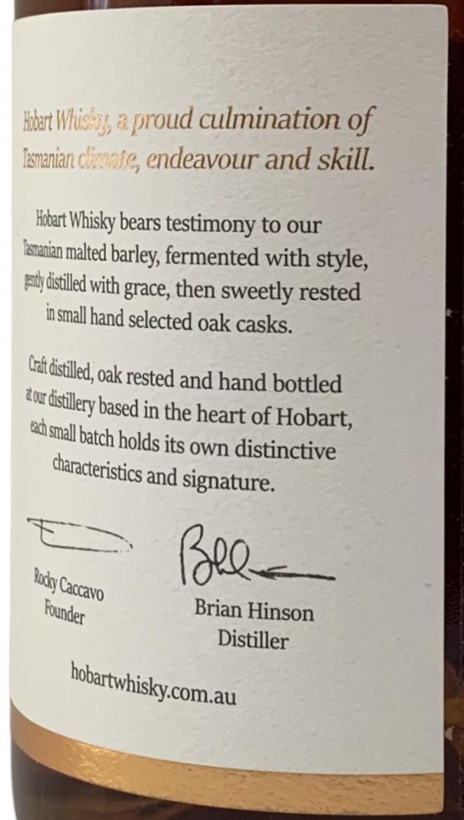 Hobart Whisky Tasmanian Single Mat