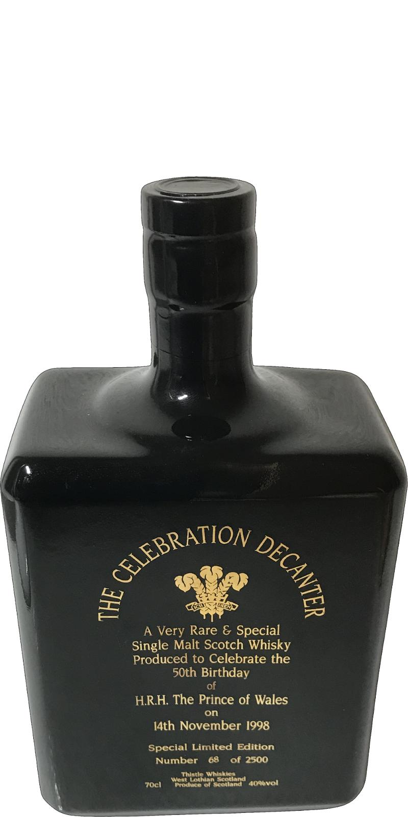 The Celebration Decanter A Very Rare & Special Single Malt Scotch Whisky