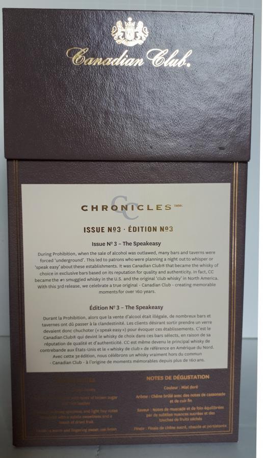 Canadian Club Chronicles 43