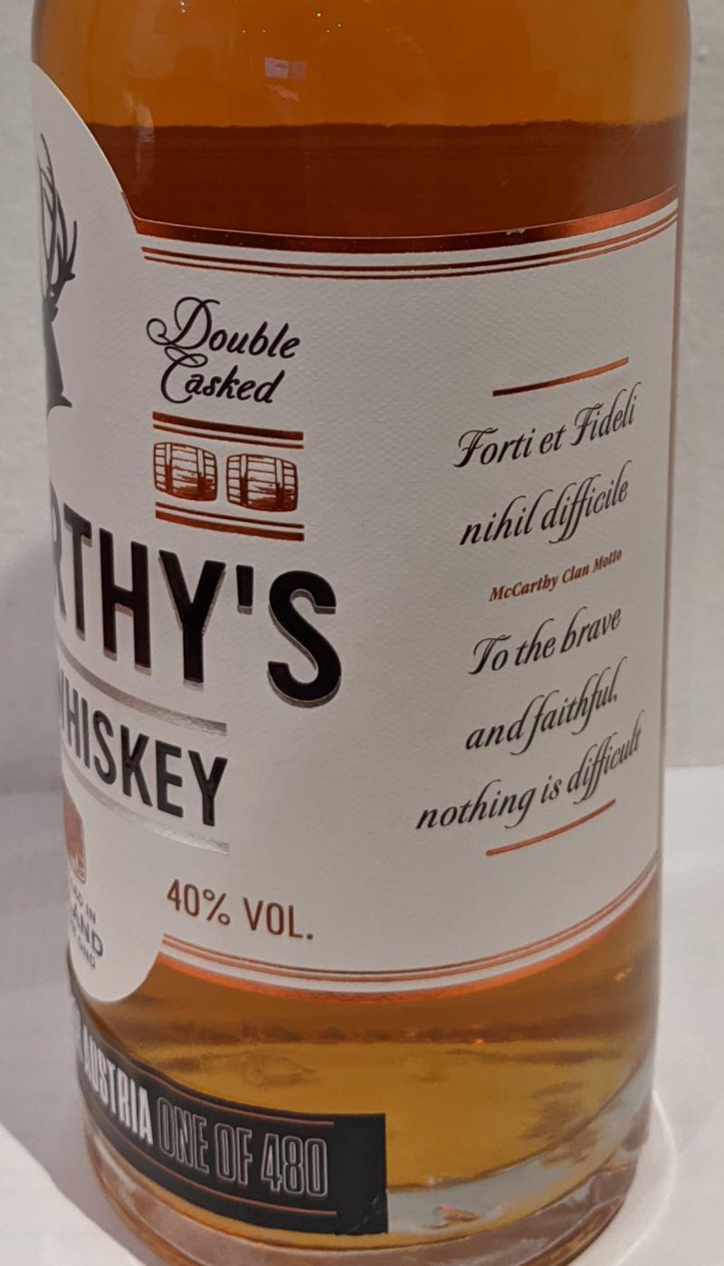 McCarthy's Irish Whiskey McCa
