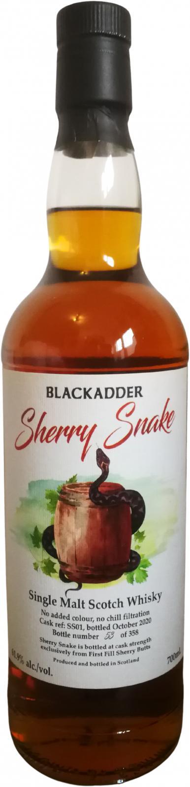 Single Malt Scotch Whisky Sherry Snake BA