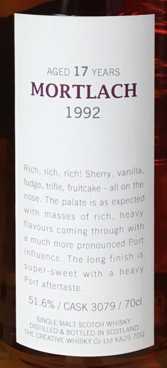 Mortlach 1992 CWC