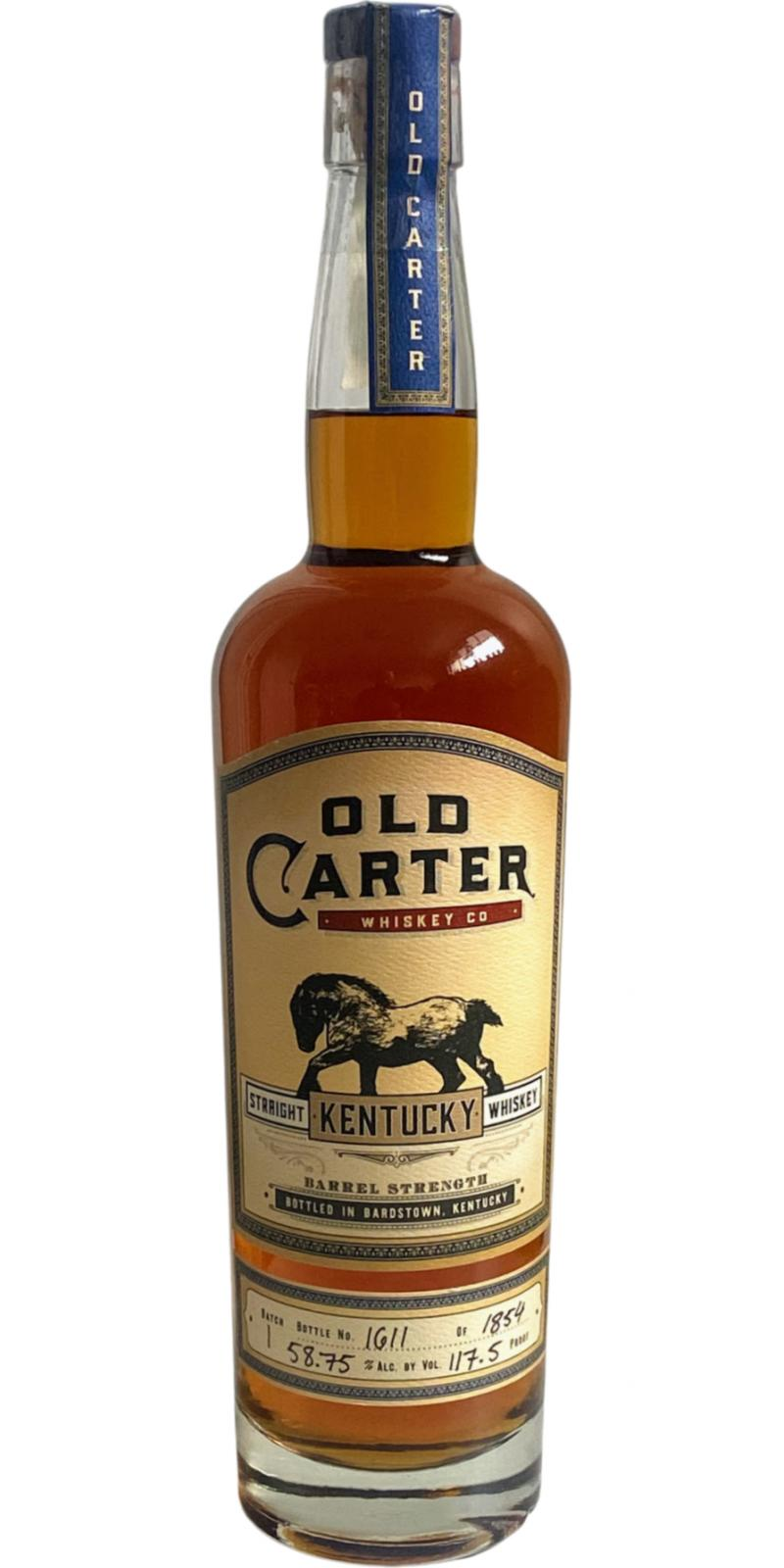 Old Carter Straight Kentucky Whiskey