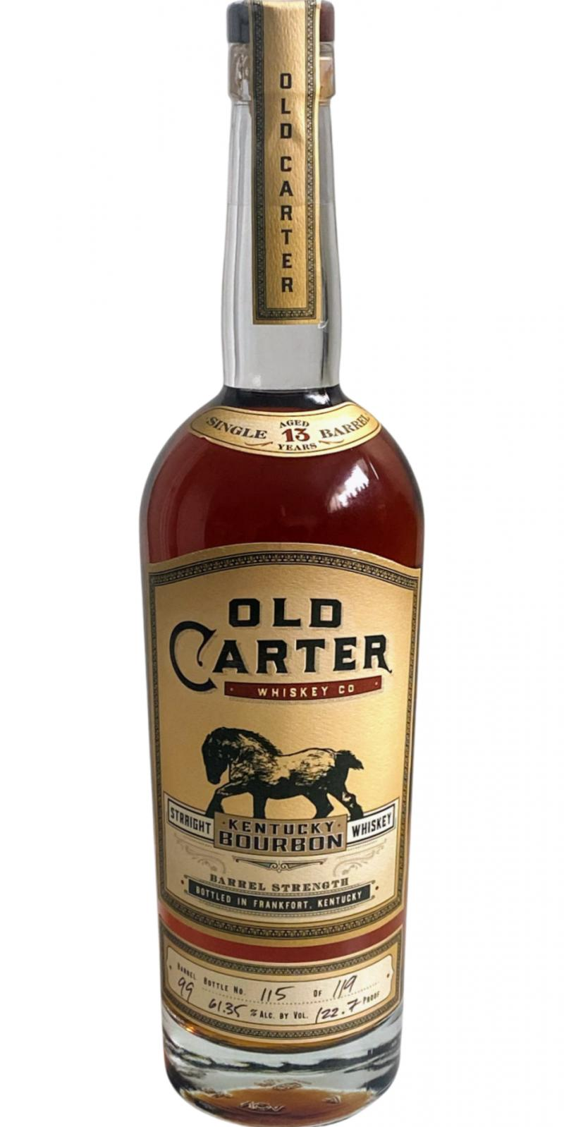 Old Carter Straight Kentucky Bourbon Whiskey
