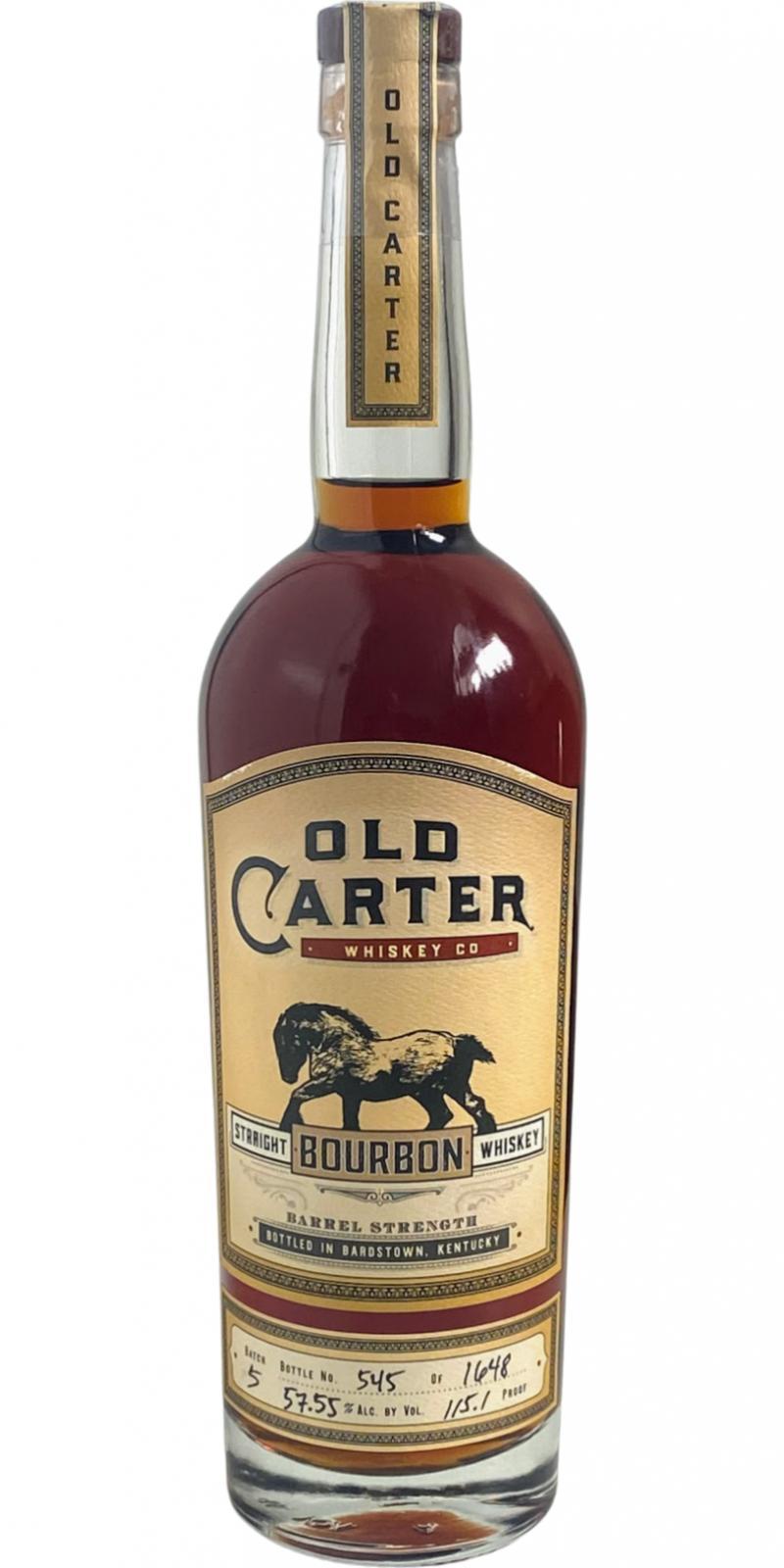 Old Carter Straight Bourbon Whiskey