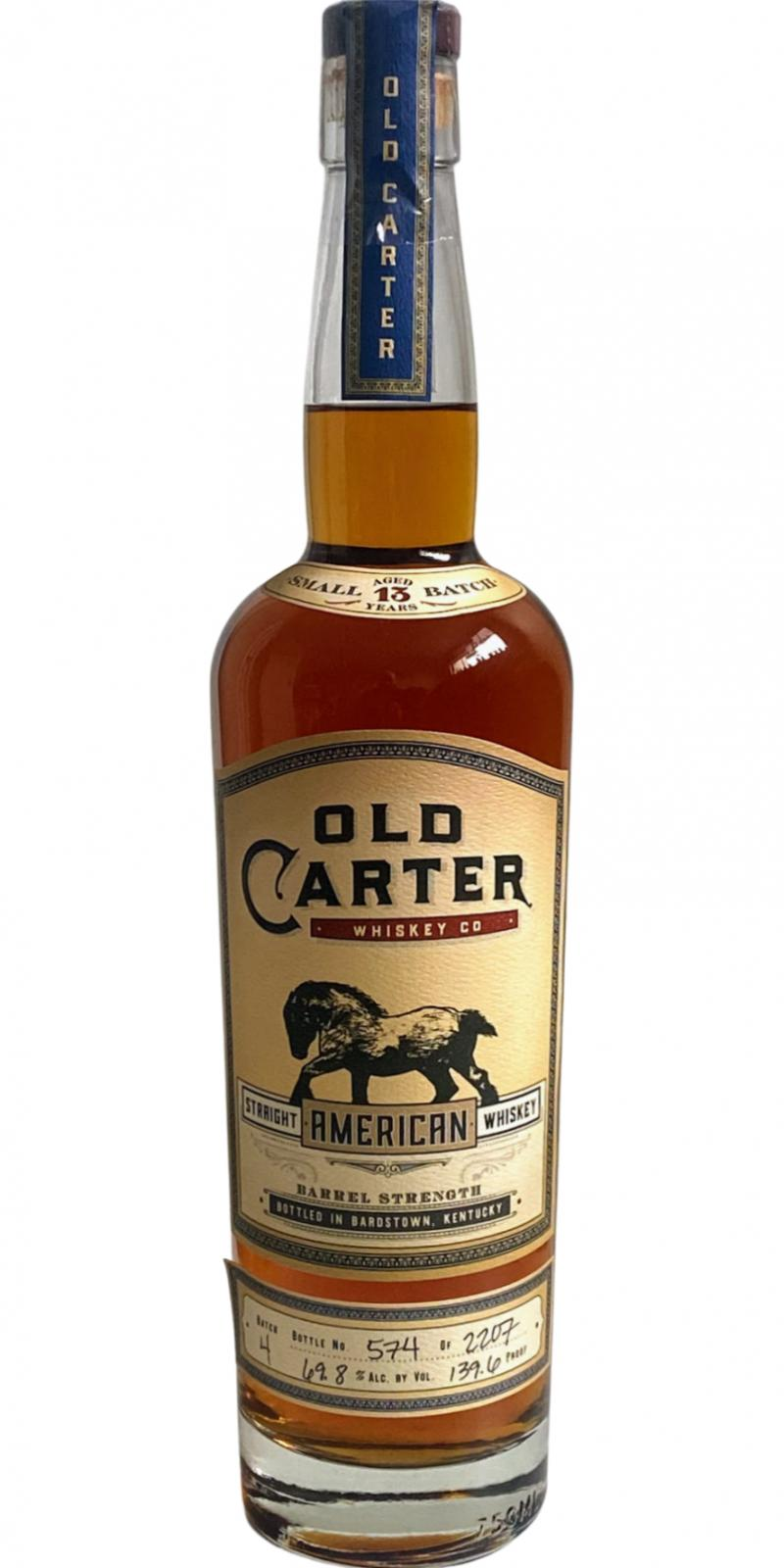 Old Carter Straight American Whiskey