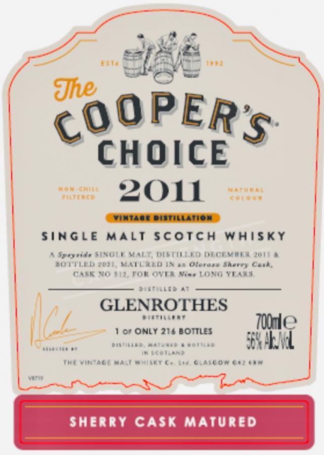 Glenrothes 2011 VM