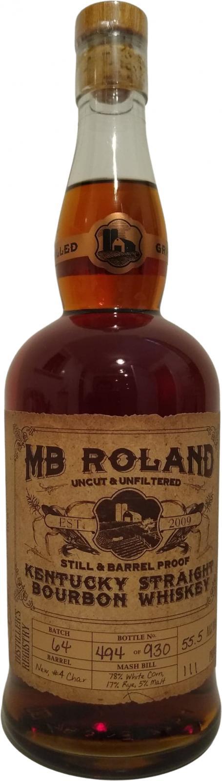 MB Roland Kentucky Straight Bourbon Whiskey