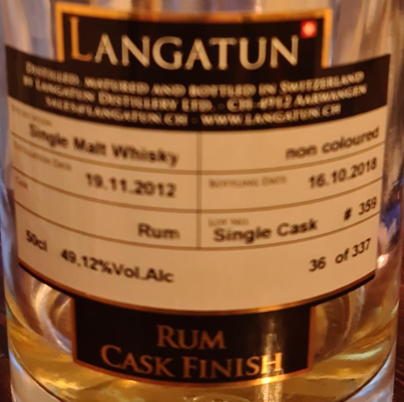 Langatun Rum Cask finish
