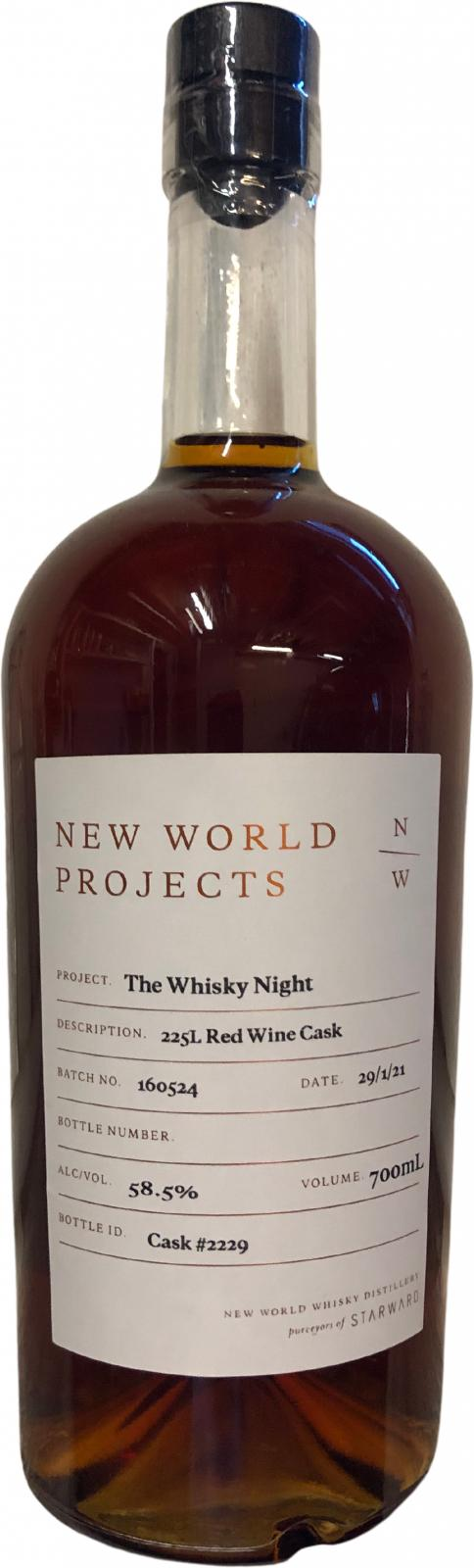 New World Projects The Whisky Night Red Wine Cask