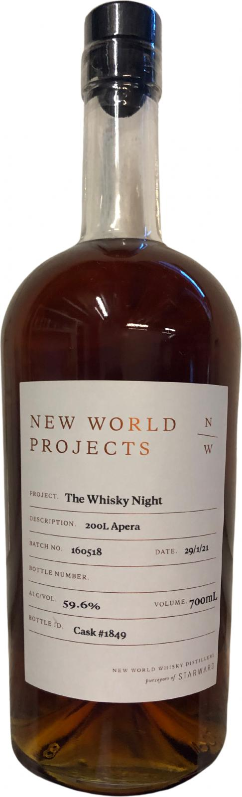 New World Projects The Whisky Night Apera
