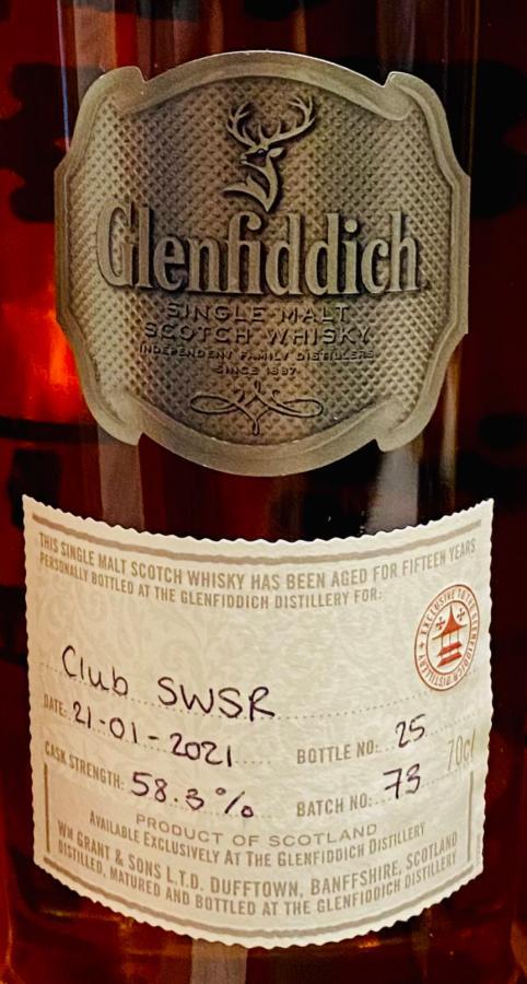 Glenfiddich 15-year-old CS